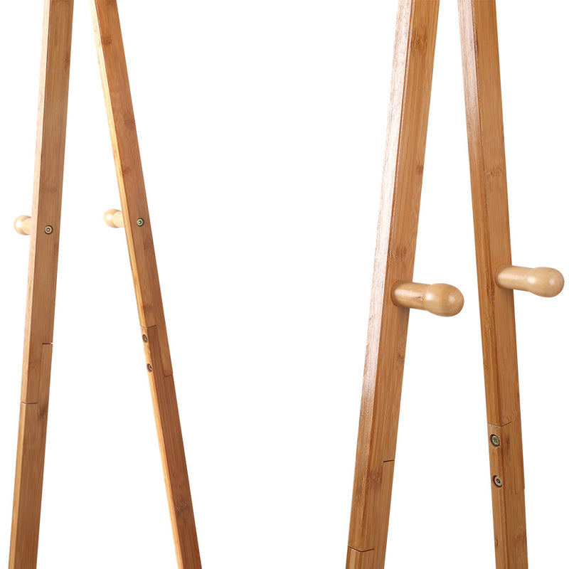 Bamboo Clothes Rack handles