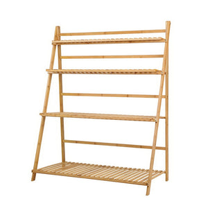 Bamboo Plant Ladder Shelf
