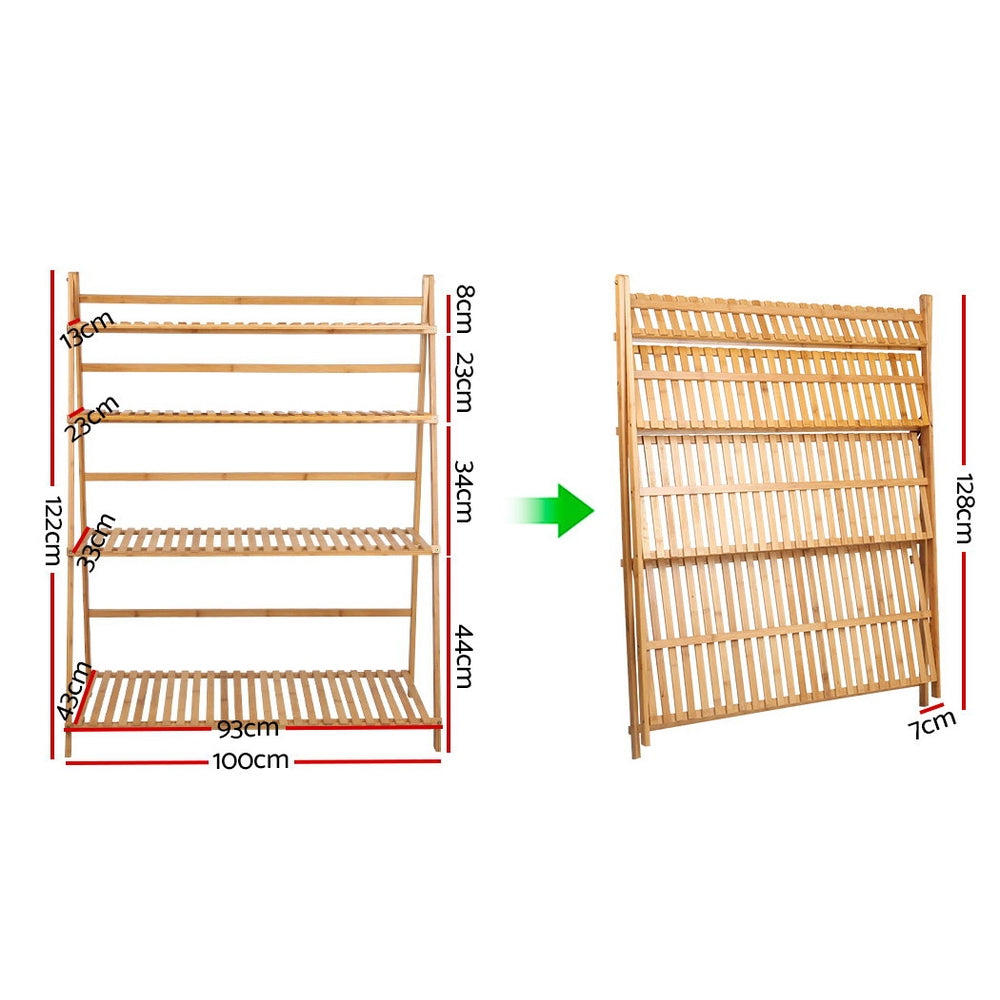 Bamboo Plant Ladder Shelf measurements