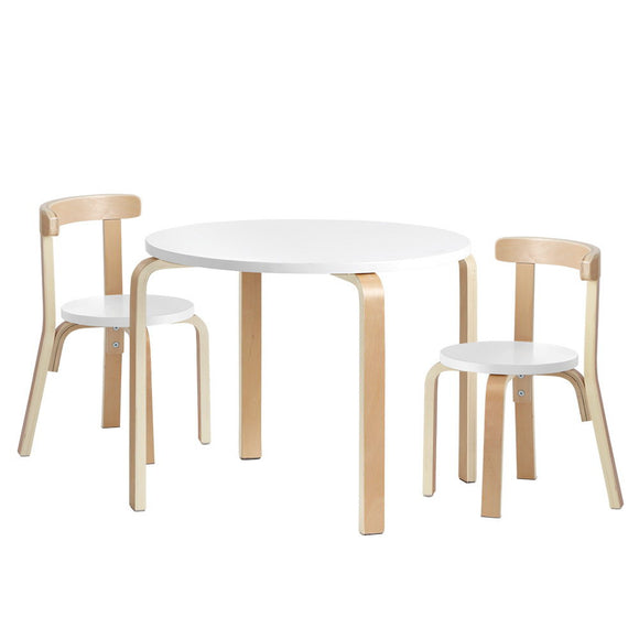 Kids Wooden Table & Chair Set