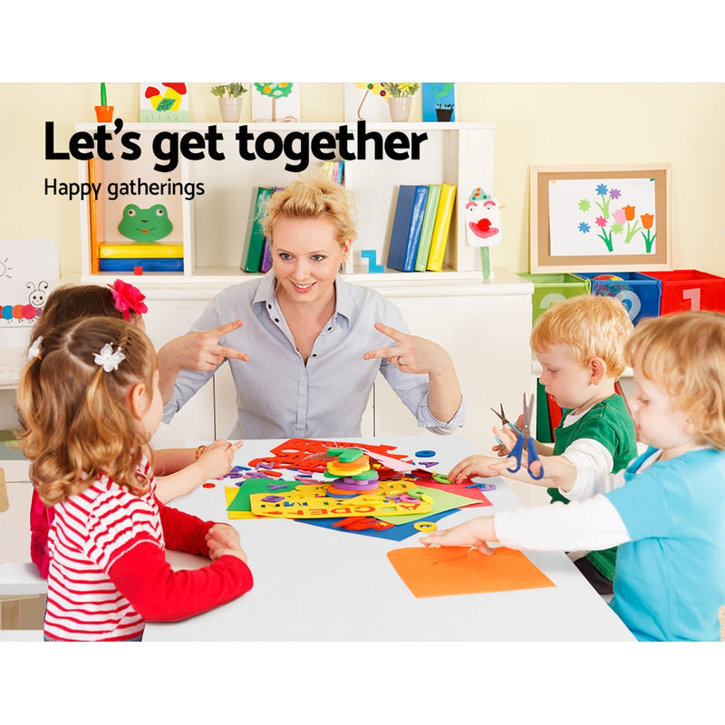 Kids 5 Piece Table & Chair Set family playing