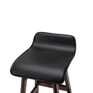 Zinnia - PU Leather and Wood Bar Stool - HomeSimplicity
