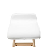 Rosa - PU Leather and Wood Bar Stool (Set of 2) - HomeSimplicity