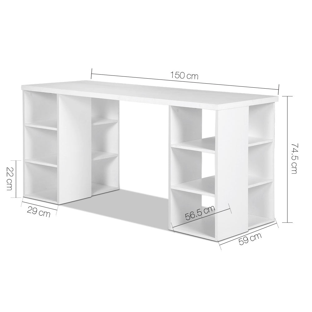 Study Desk with Storage & Bookshelf measurements