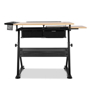 Drafting Desk & Stool Set back view top flat