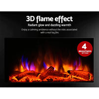 2000W Wall Mounted Electric Fireplace 3 D effect