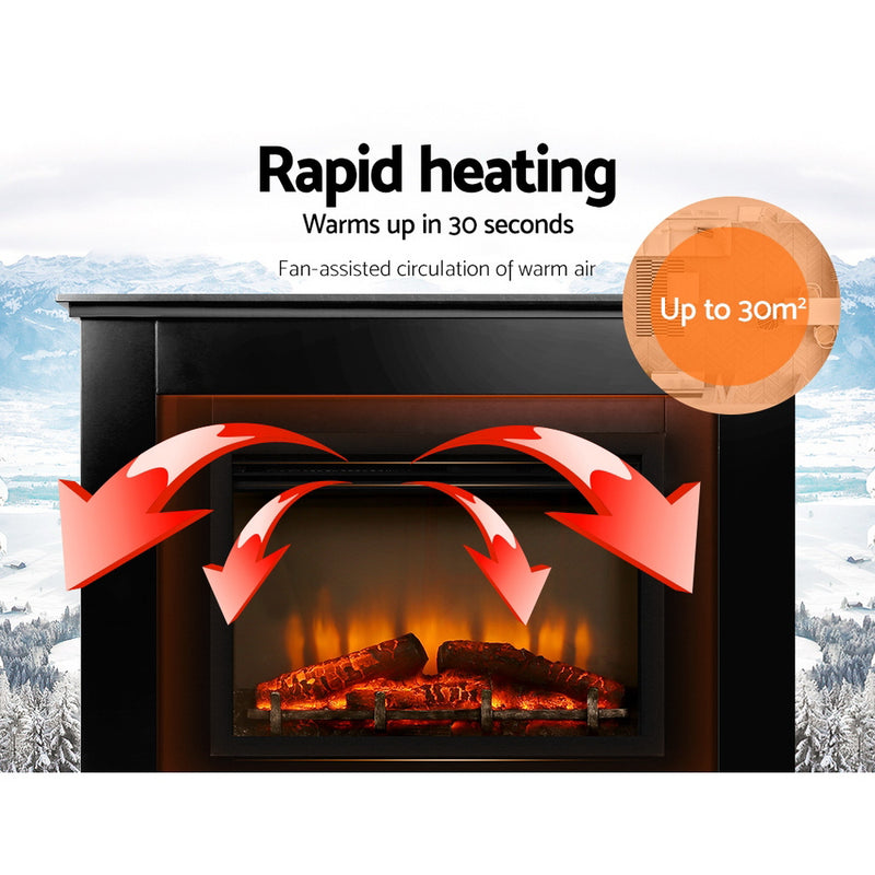 Portable 2000W Electric Fireplace Mantle rapid heating
