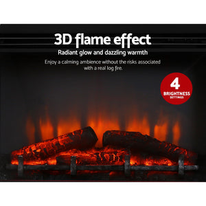 Portable 2000W Electric Fireplace Mantle 3d flame effect