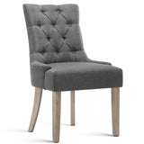 French Provincial Dining Chair - Grey full view