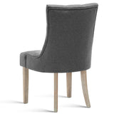 French Provincial Dining Chair - Grey back view