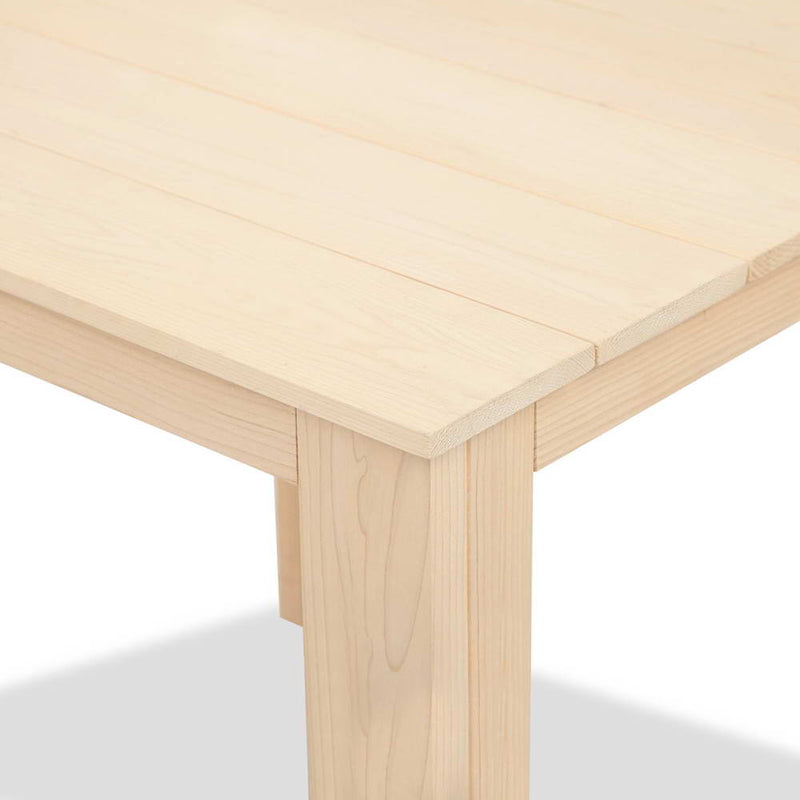Wooden Outdoor Side Beach Table - coroner close up