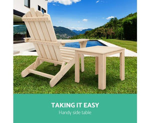 Wooden Outdoor Side Beach Table - demo picture