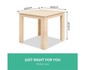 Wooden Outdoor Side Beach Table - measurements