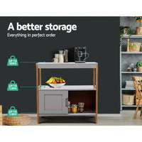 Artiss Buffet Sideboard Cabinet Storage Shelf Cupboard Hallway Tabe Sliding Door