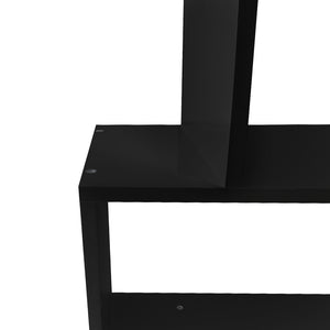 6 Tier Jagged Shelf - Black  close up 2