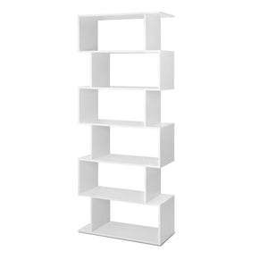 6 Tier Jagged Shelf - White
