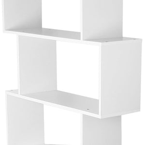 6 Tier Jagged Shelf - White shelf close up 2