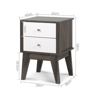 Maria Two Draw Bedside Table