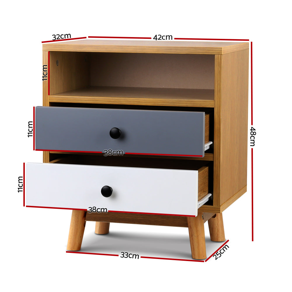 Anna Bedside Table - measurements