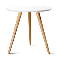 Round Side Table - White - HomeSimplicity