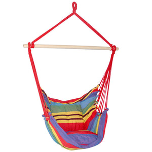 Hammock Swing Chair Large - Rainbow or Blue - HomeSimplicity