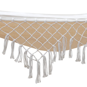 Ava - Tasseled Double Hammock with Wooden Stand - weave close up