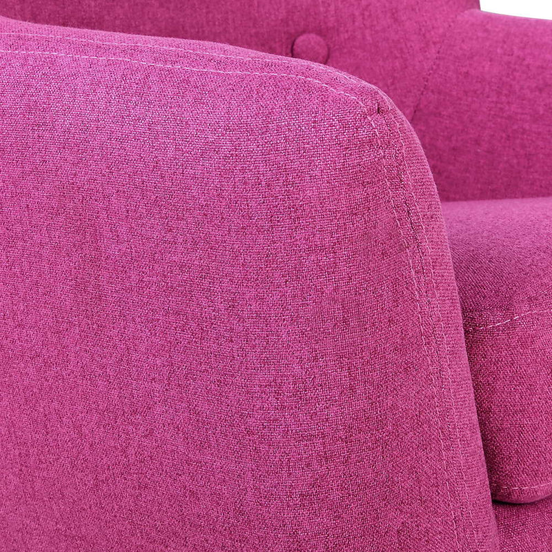 Kids Fabric Armchair Magenta - HomeSimplicity