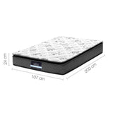 Giselle Bedding King Single Pillow Top Foam Mattress