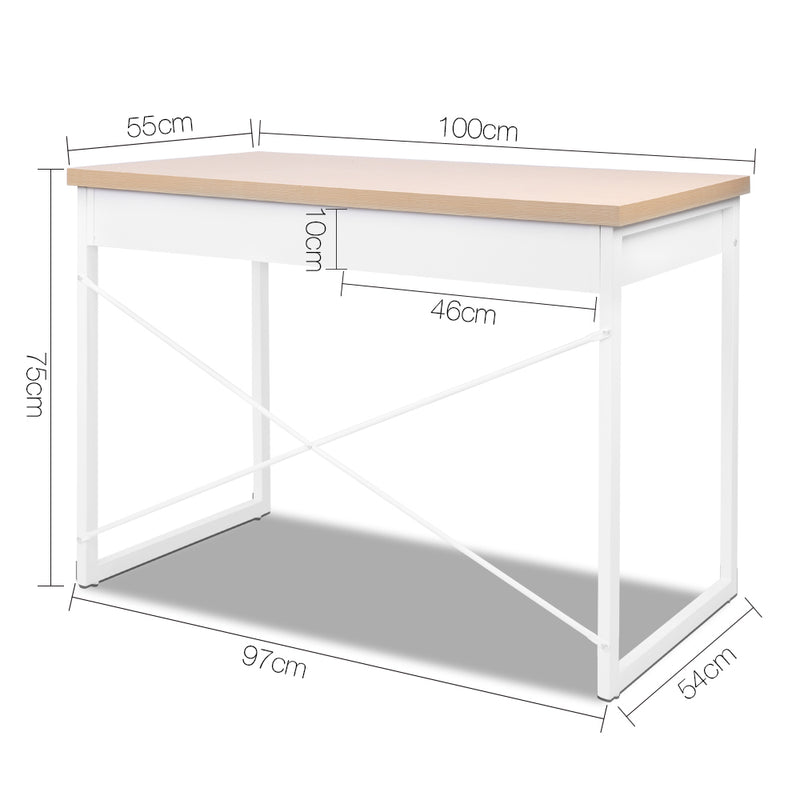 Claire Office Desk with Draws measurements