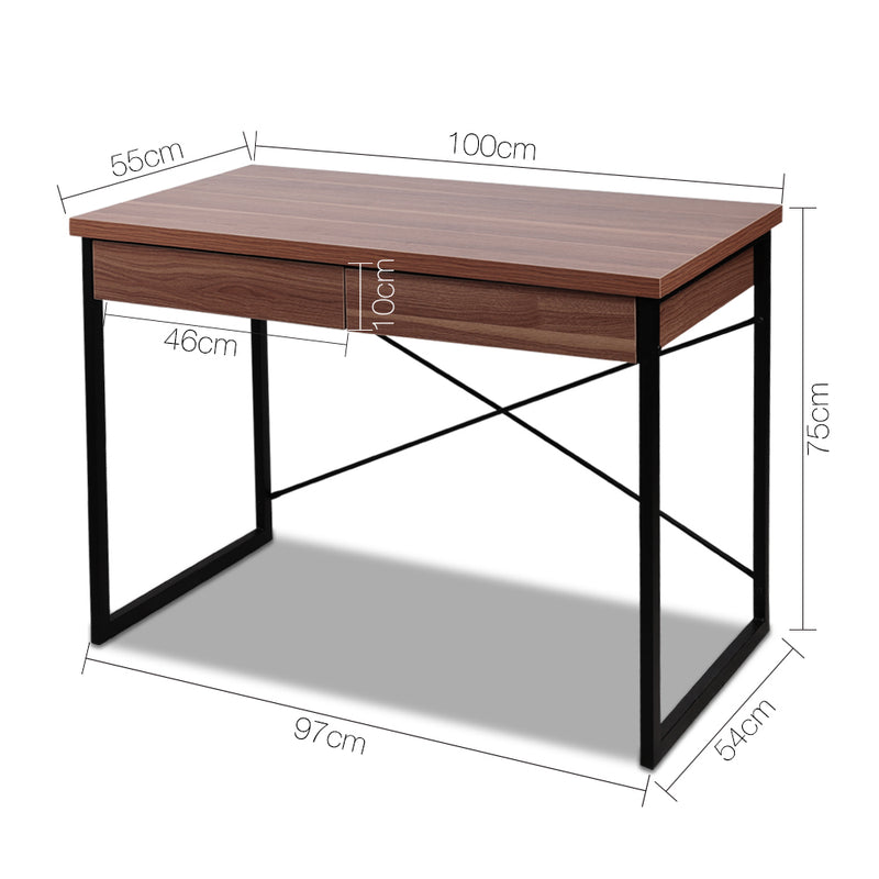 Kai Office Desk with Draws measurements