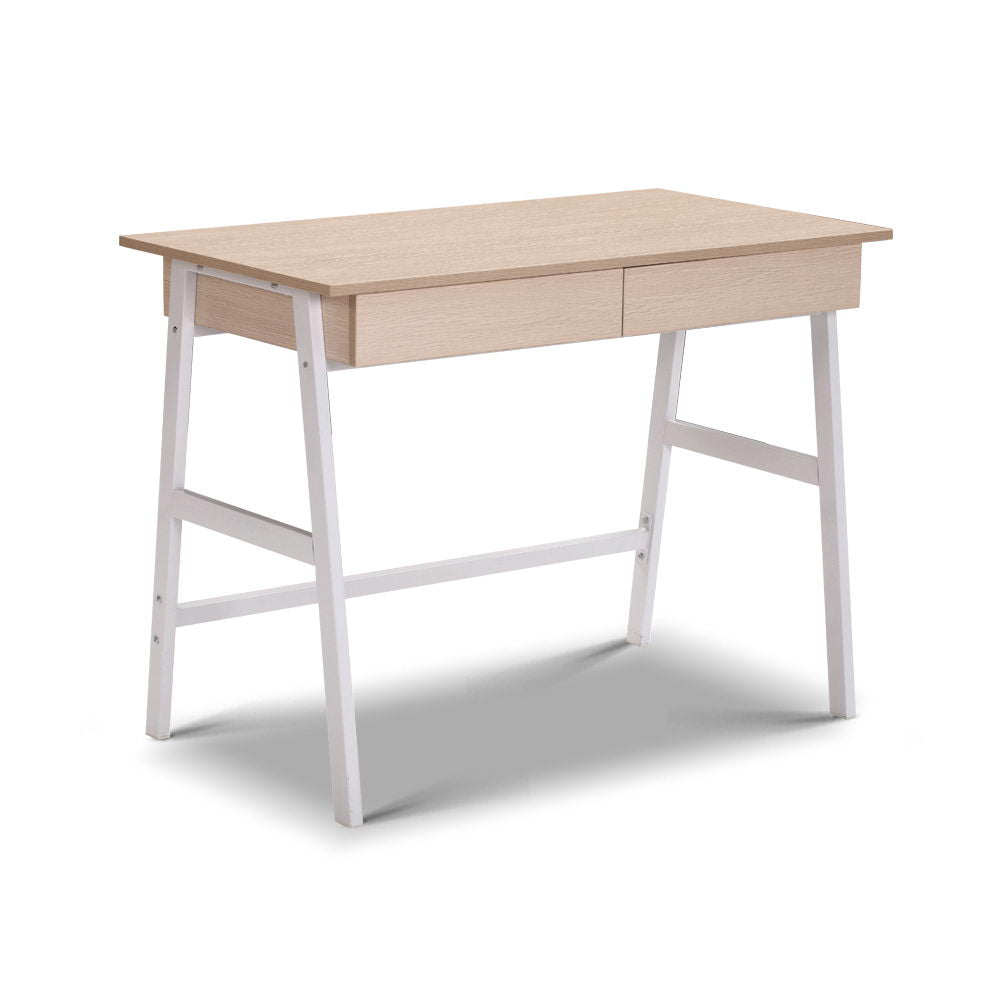 Oak Top Desk with Drawer