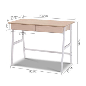 Oak Top Desk with Drawer measurements