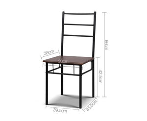 Artiss - Table and 2 Chairs - chair measurement