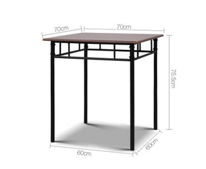 Artiss - Table and 2 Chairs - table measurement