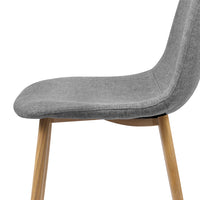 Adam - Fabric Dining Chair (Set of 4) seat close up