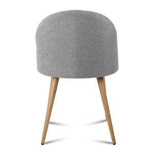 Daisy - Light Grey Dining Chair (Set of 2) - HomeSimplicity