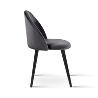 Brody Velvet Dining Chair (Set of 2) - side view