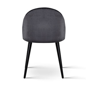 Brody Velvet Dining Chair (Set of 2) - back view