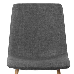 Jenna Dining Chairs - Dark Grey (Set of 4) - HomeSimplicity