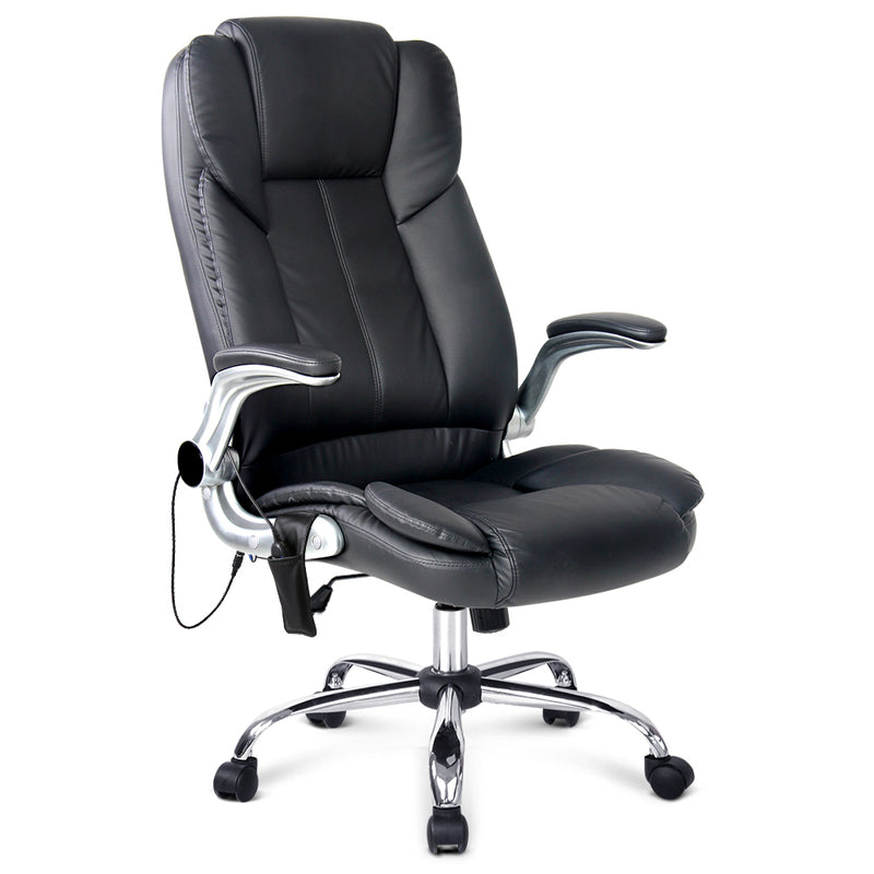 8 Point PU Leather Massage Chair full view