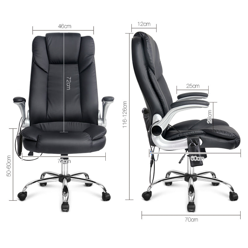8 Point PU Leather Massage Chair measurements