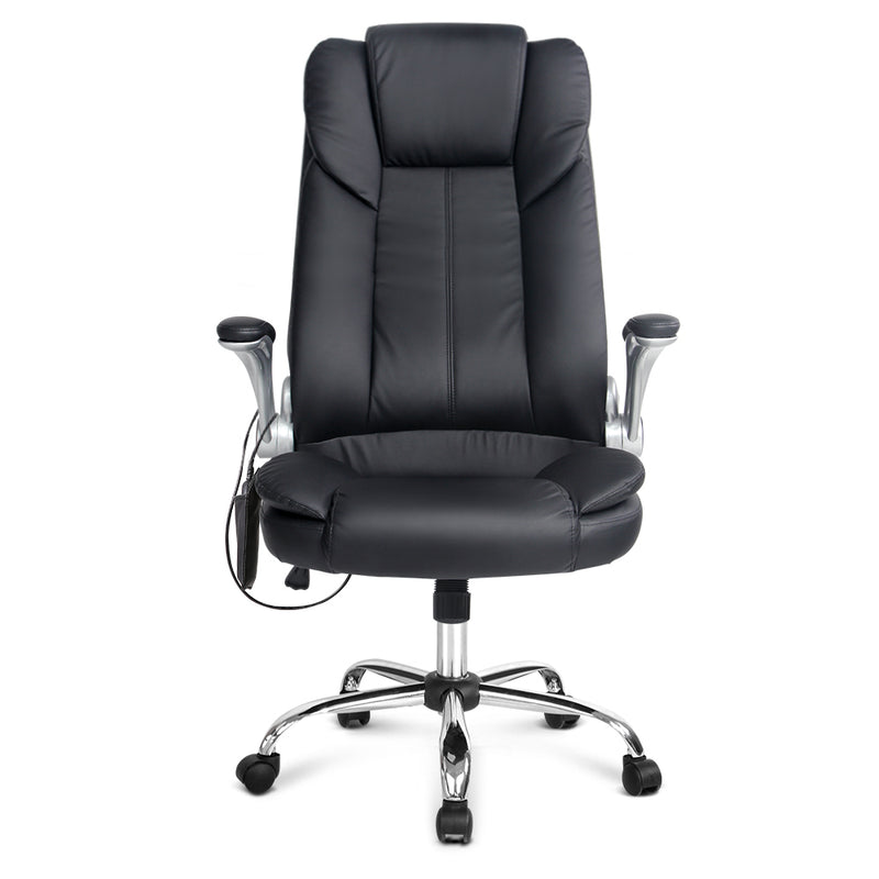 8 Point PU Leather Massage Chair front view