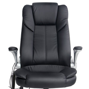 8 Point PU Leather Massage Chair seat close up