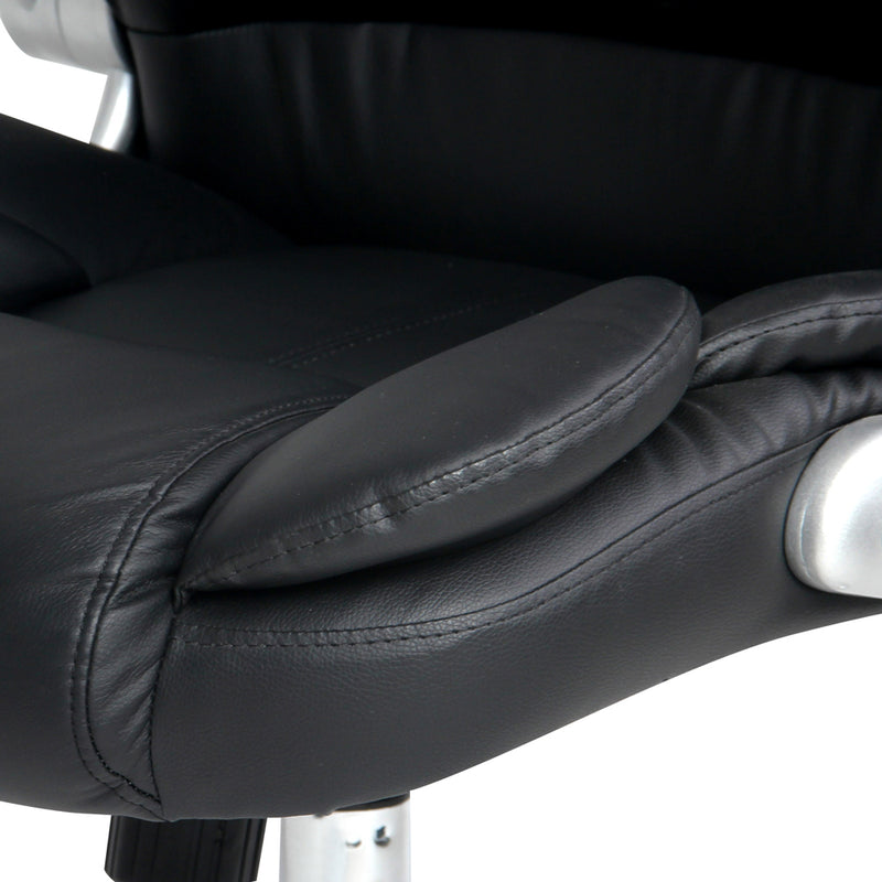 8 Point PU Leather Massage Chair arm rest close up