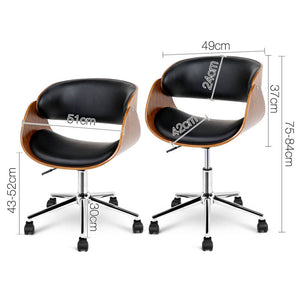 Curved Office Chair measurements