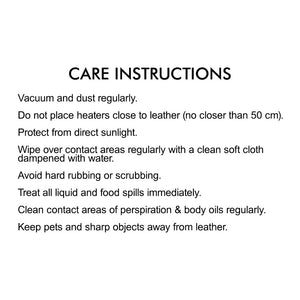 Curved Office Chair care instructions