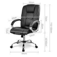 Executive Office Chair measurements