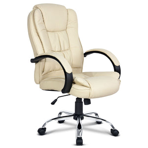 Executive Office Chair - Beige side