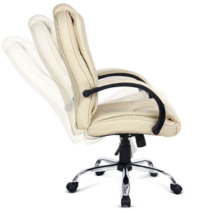 Executive Office Chair - Beige tilt function