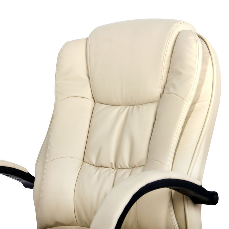 Executive Office Chair - Beige back rest close up